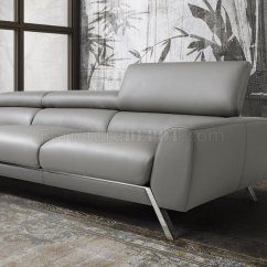 J M Paquet Sofa Fabric Sofas Ebay Mood Power Reclining Sectional In Grey Leather By Andm