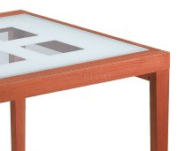 Contemporary Cherry Dinette w/Fold-out Frosted Glass Top Table