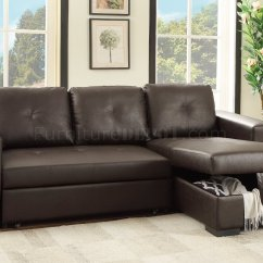Leona Sofa Bed Mayfair Dark Grey Sectional F6930 Convertible Espresso Faux Leather By Boss