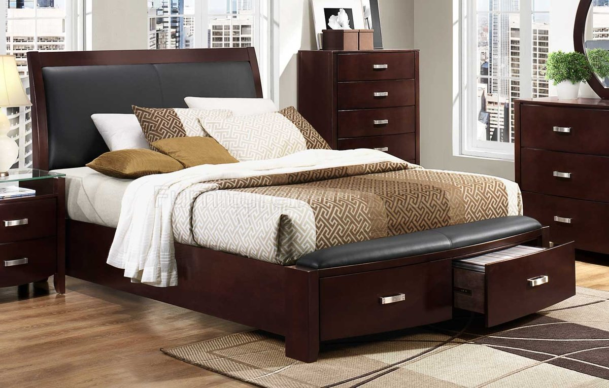 Lyric Bedroom 1737NC by Homelegance in Dark Espresso wOptions