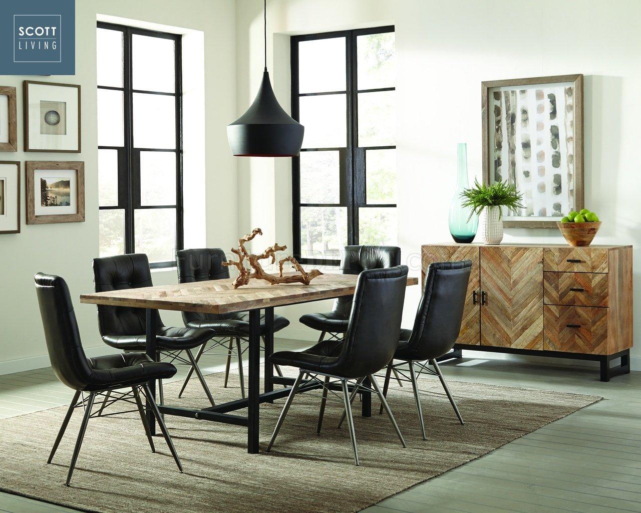 modern leather living room sets decor dark wood floor thompson 107561 - scott coaster natural mango