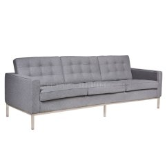 Firenze Sofa Oasis Darrin Leather Florence Fs90lgrw In Light Gray Wool Leisuremod W