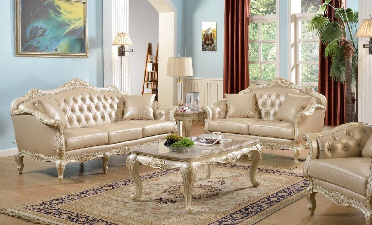 traditional sofa sets living room ashley sleeper sofas taj in antique white bonded leather w options