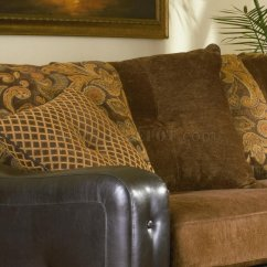 Track Arm Sofa Sleeper Sofas With Chaise Sectional 503001 Chocolate Chenille/dark Brown Vinyl Base