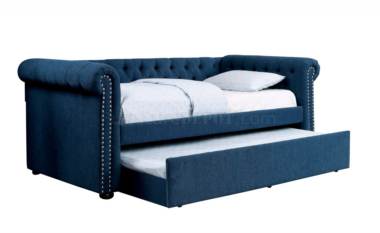 deep sofa daybed tables ikea leanna cm1027tl and trundle set in dark teal fabric