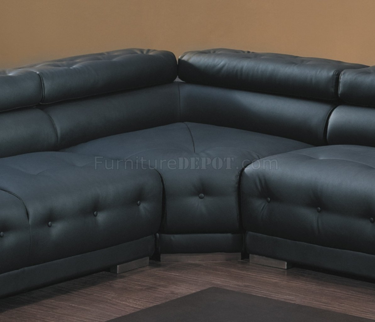 t57b ultra modern leather sectional sofa set cleaning 8097 in black by american eagle