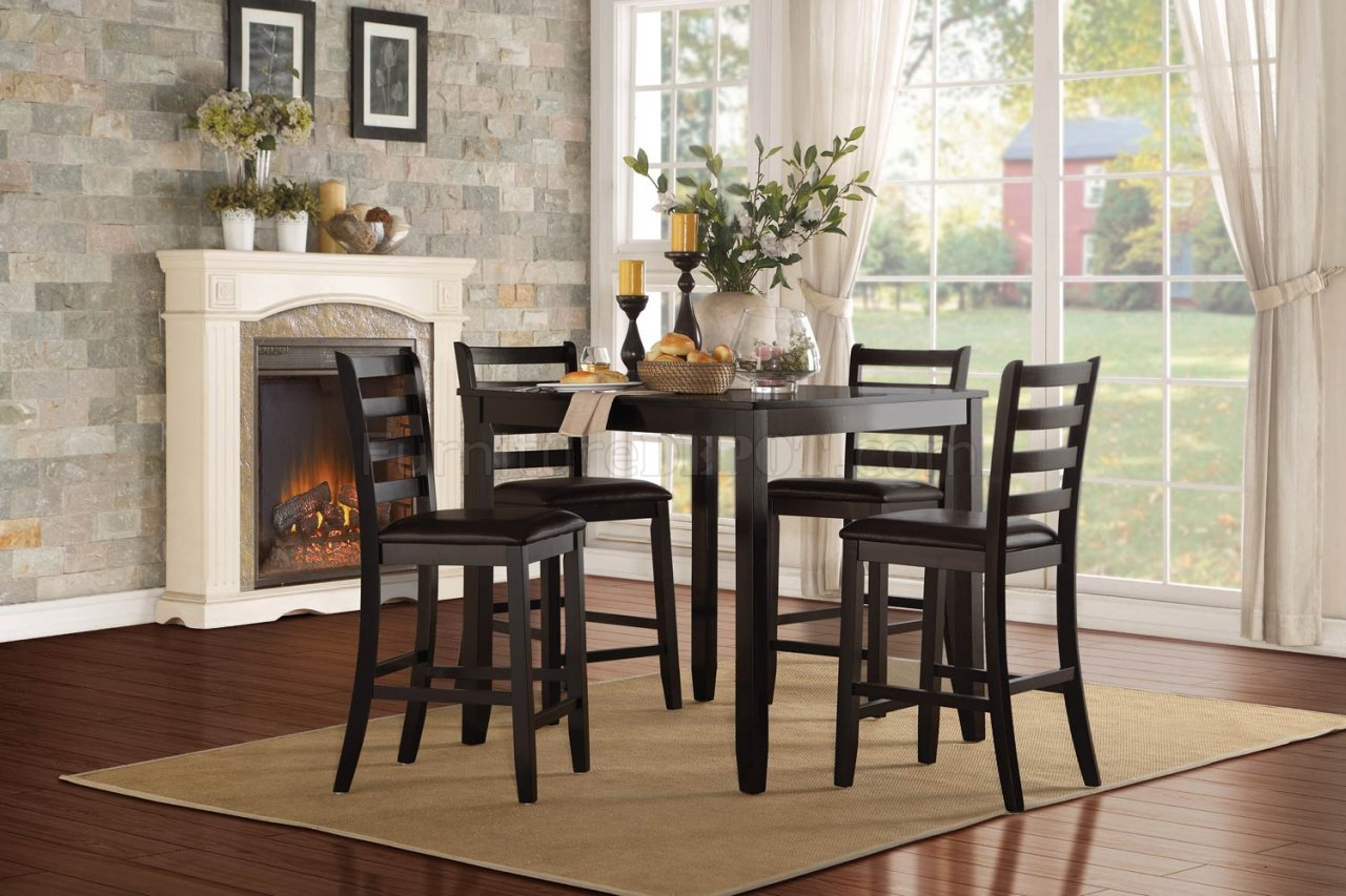 Trask 5427 36 Counter Height Dining Set 5Pc By Homelegance