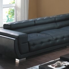 T57b Ultra Modern Leather Sectional Sofa Comfort Sleeper Sheets 8097 In Black By American Eagle