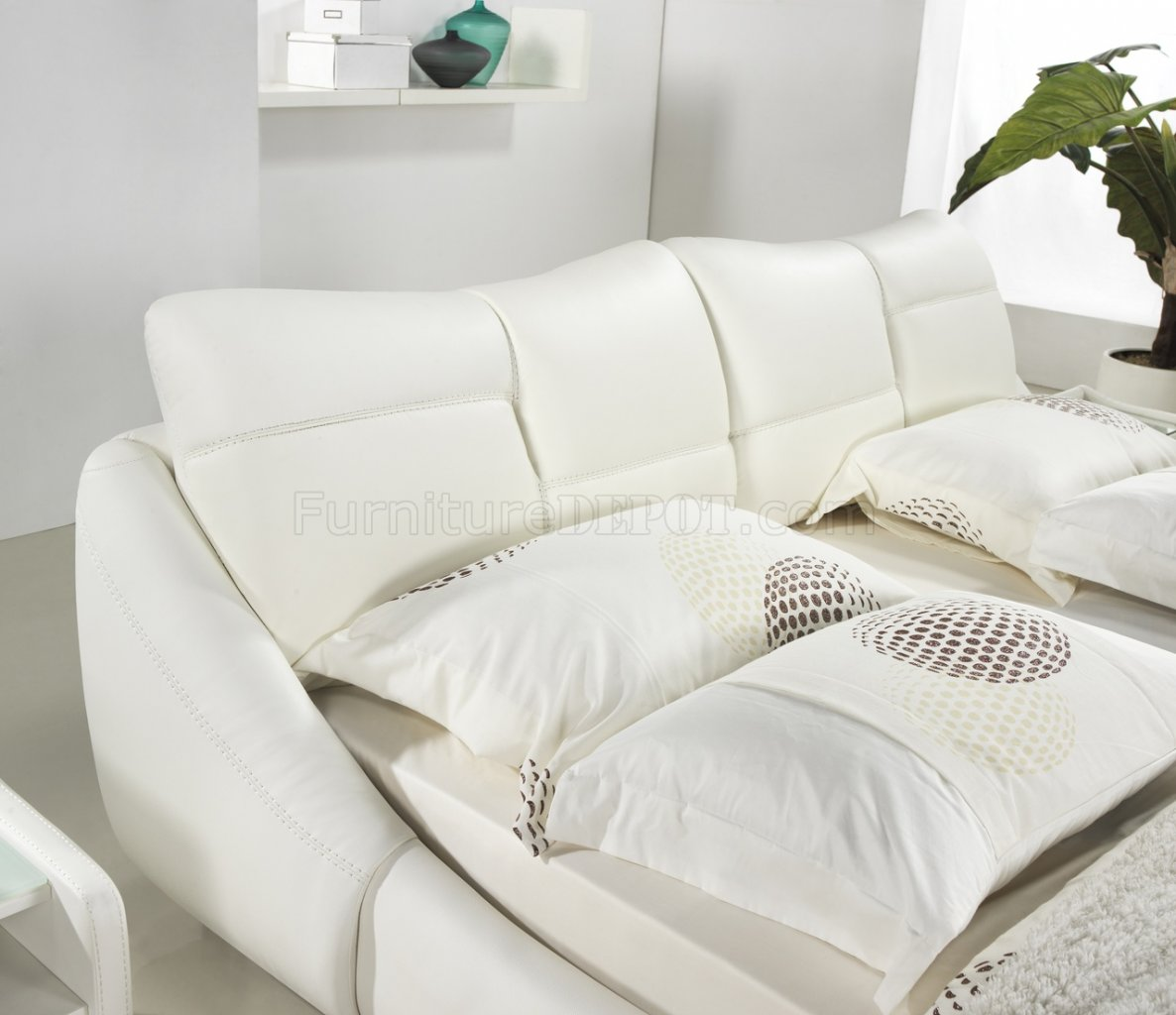 bianca futon sofa bed review 4087 modern leather sectional with recliners reviews mirage in white half by casabianca