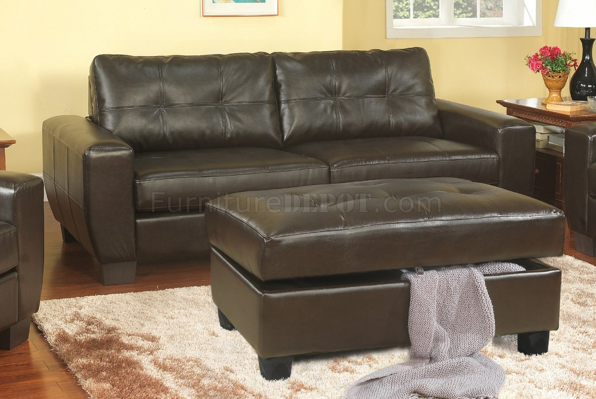 modern bonded leather sectional sofa with recliners bed vancouver dark cappuccino & loveseat set