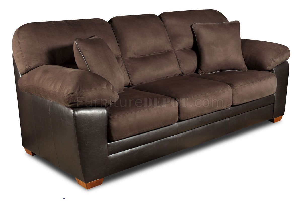 modern bonded leather sectional sofa with recliners cau d ax italian brown godiva microfiber & loveseat set w/accent pillows