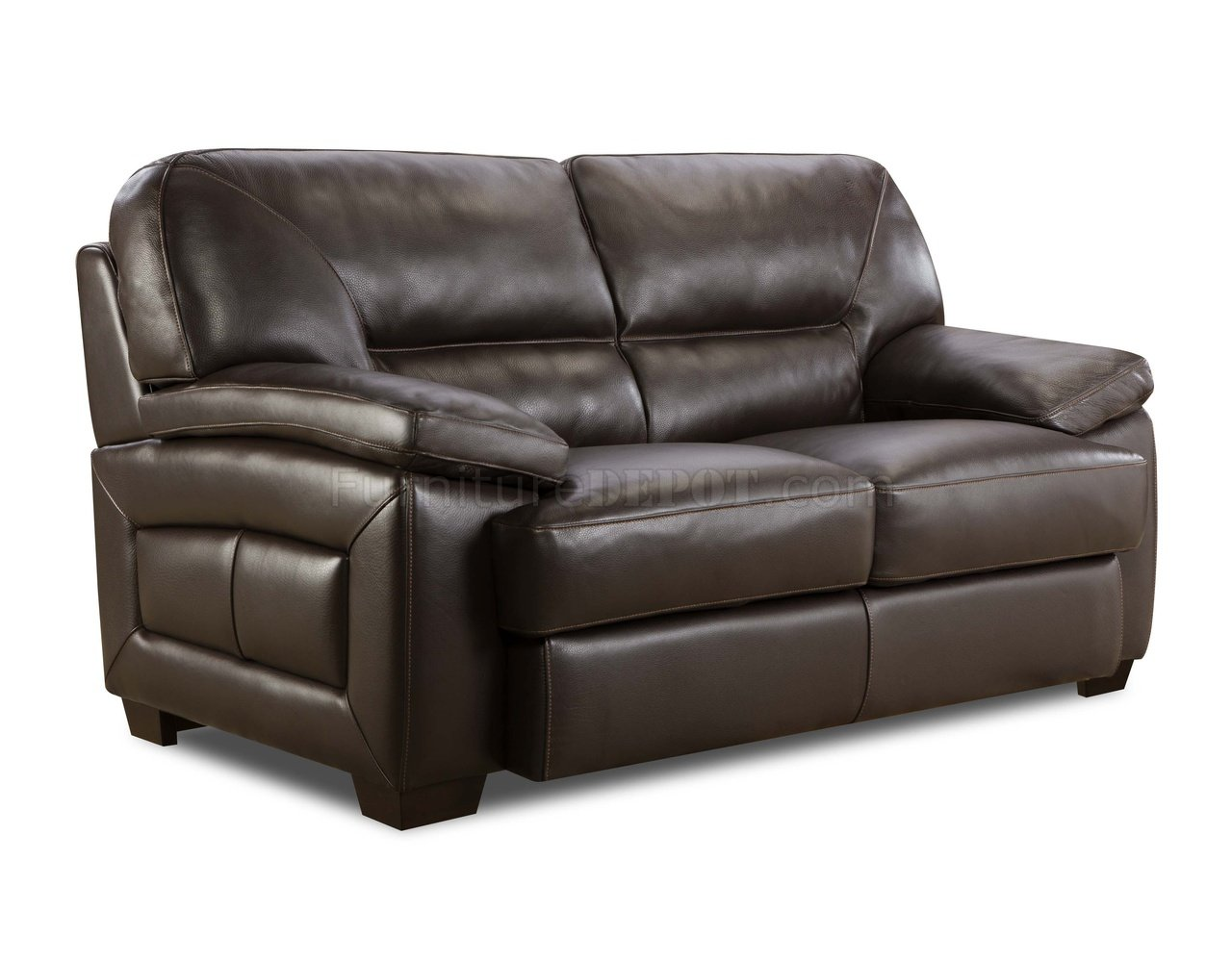 top grain leather sofa set best sectional sofas apartment therapy truffle brown modern and loveseat