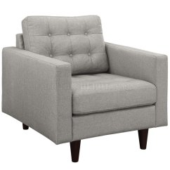 Light Grey Chair How To Reupholster A Cushion Corner Empress Sofa In Gray Fabric By Modway W Options