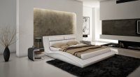 Wave Bed in White Leatherette by J&M w/Options