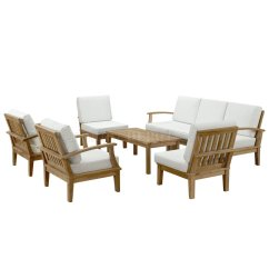 Solid Wood Sofa Set Corner Designs Marina Outdoor Patio 8pc In By Modway