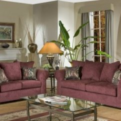 Chelsea Leather Sofa Durablend Reviews Burgundy Fabric Traditional & Loveseat Set