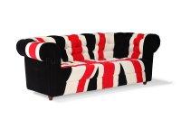 Union Jack Fabric Modern Sofa & Loveseat Set w/Options