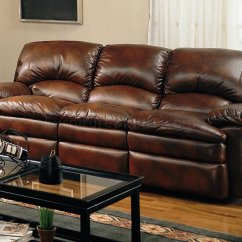 Modern Bonded Leather Sectional Sofa With Recliners Foldable Wooden Set Rich Brown Reclining W Options