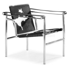 Le Corbusier Chair Double Papasan Frame And Cushion Style Black White Pony Genuine Leather