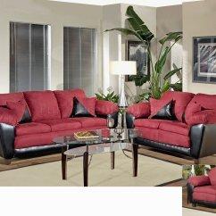 Burgundy Leather Sofa And Loveseat Solid Hardwood Frame Sofas Fabric Clic