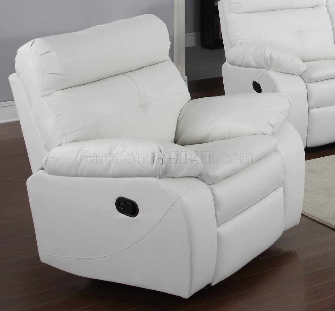 white reclining sofa and loveseat the cloud g577a in bonded leather by