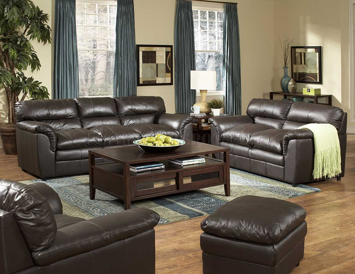 how to decorate with a dark brown leather sofa contemporary sectionals full transitional style and loveseat set