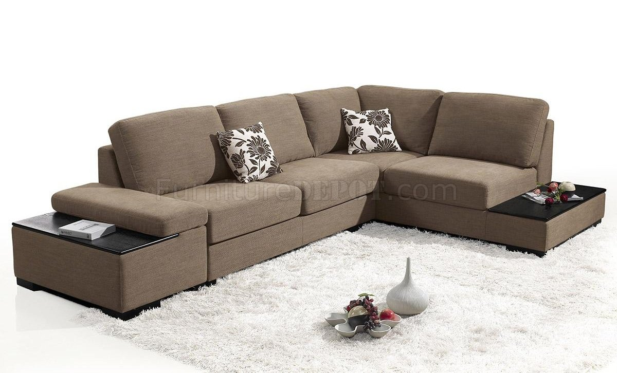 1015 Risto Sectional Sofa In Taupe Fabric By Vig