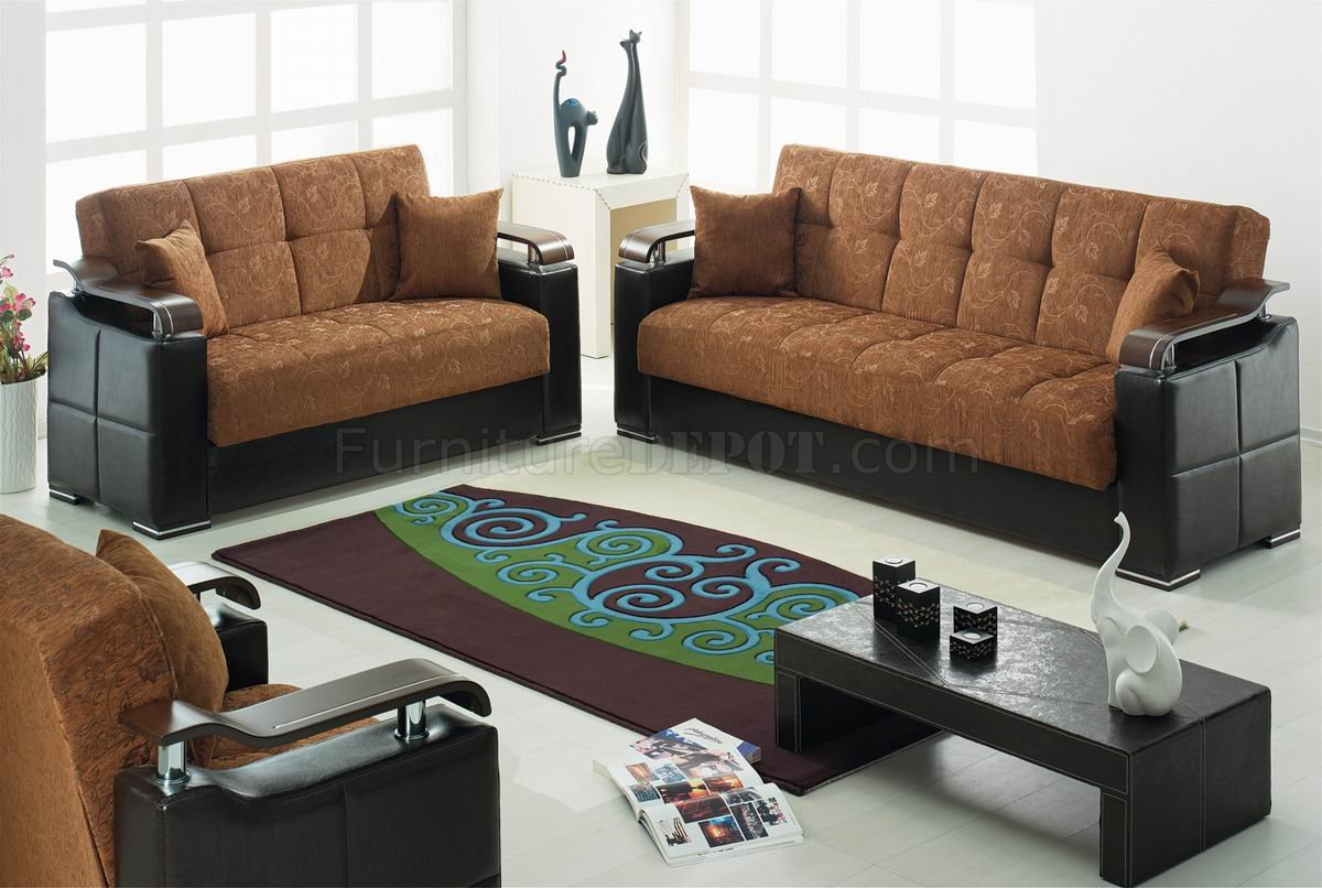black vinyl futon sofa broyhill audrey brown fabric white modern loveseat set woptions