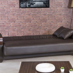 Serta Bonded Leather Convertible Sofa Blue Euro Bed Mckinley Brown ...