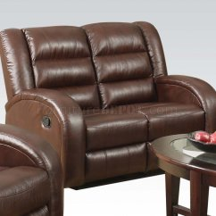 Acme Sectional Sofa Chocolate Leather Direct From China Dacey Lynn 53565 Motion In Brown By W Options