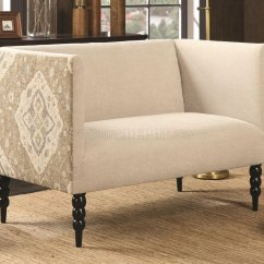 Deconstructed Shelter Arm Sofa Review Sectional Sofas Craigslist Pittsburgh 902728 Settee In Beige Fabric By Coaster