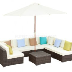Lexmod Monterey Outdoor Wicker Rattan Sectional Sofa Set Maxwell Leather For Sale Patio By Modway