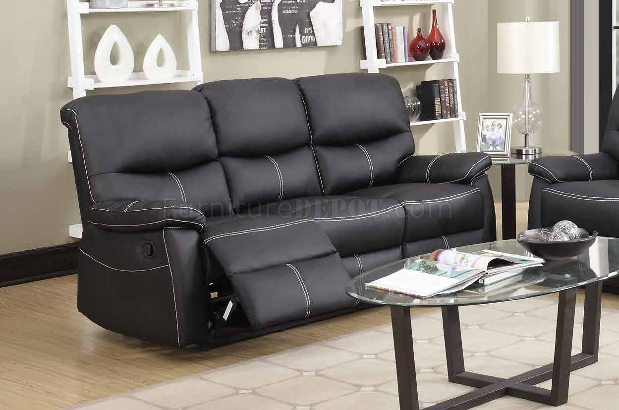 faux leather reclining sofa set garden corner with dining table 7280 in black w options