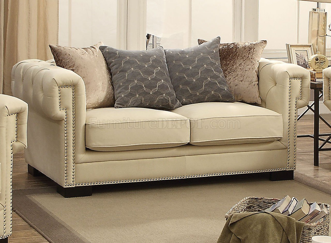 cream sectional sofa fabric seat theater in ahmedabad eulalie 54245 velvet by acme w options