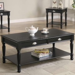 Coffee Table With Chairs Banquet Chair Covers India Black Satin Finish Classic 3pc Set W Shelves