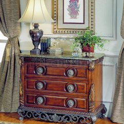 Discontinued Dining Room Chairs Chair Covers Long Warm Cherry Finish Traditional Sleigh Bed W/iron Gold-tone Frame