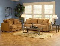 Bella Cognac Fabric Living Room Sofa & Loveseat Set