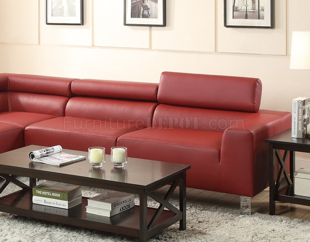 l shaped sofa living room london company pontyclun f7300 sectional by poundex in burgundy bonded leather