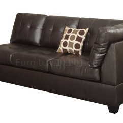 Espresso Bonded Leather Reclining Sofa Loveseat Set Wedge F7242 Sectional By Poundex In