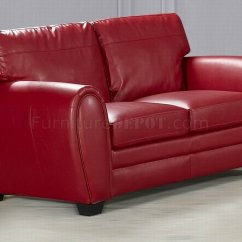 Contemporary Sofas And Loveseats Traditional Style Sofa Tables Red Bonded Leather Loveseat Set W Options