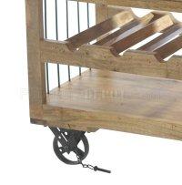 Amara 6479 Wooden Wine Cart with Shelf on Wheels by ...