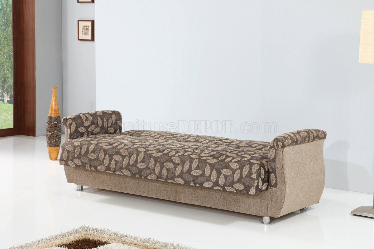 chestnut colored leather sofa corner covers uk bed in two tone fabric by empire w options