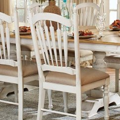 Oak And White Dining Chairs Adirondack Amish Hollyhock 5123 96 Table By Homelegance W Options