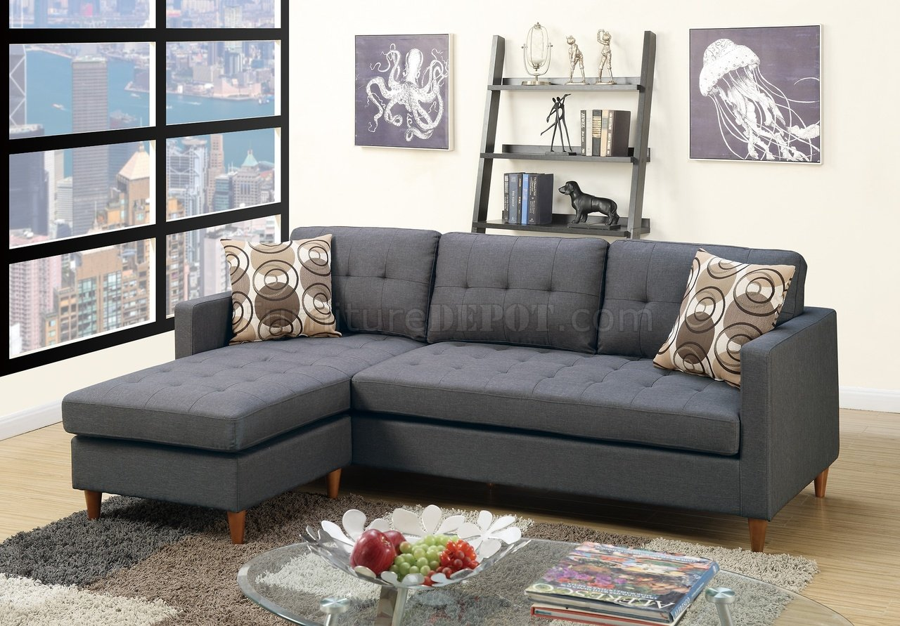 modern sofa sets toronto magenta set f7094 reversible sectional in blue grey fabric by boss
