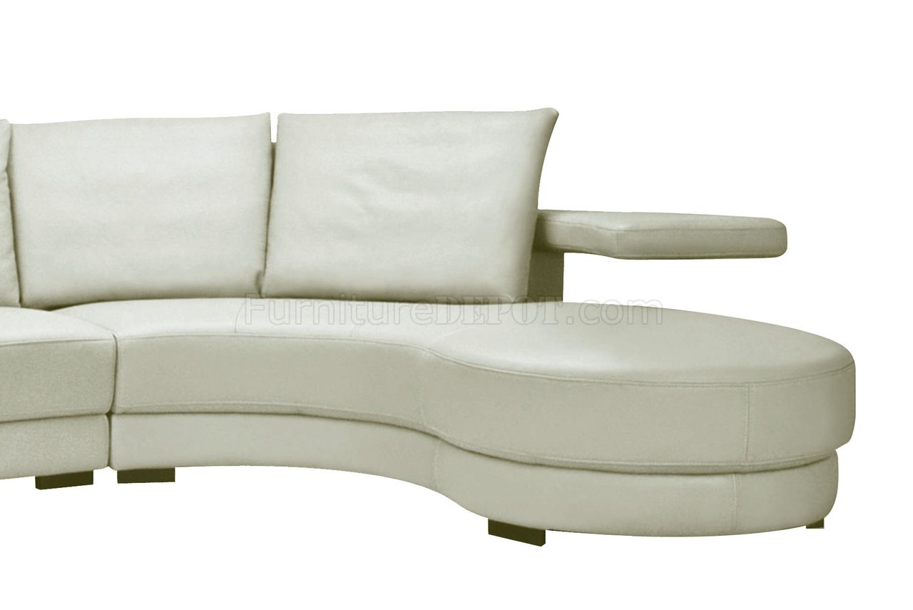oversized white leather sofa rialto lazy boy sectional in off