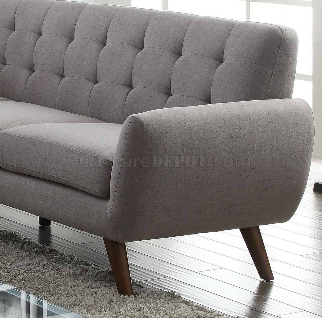 light gray fabric sectional sofa super single bed singapore essick 52765 in linen by acme