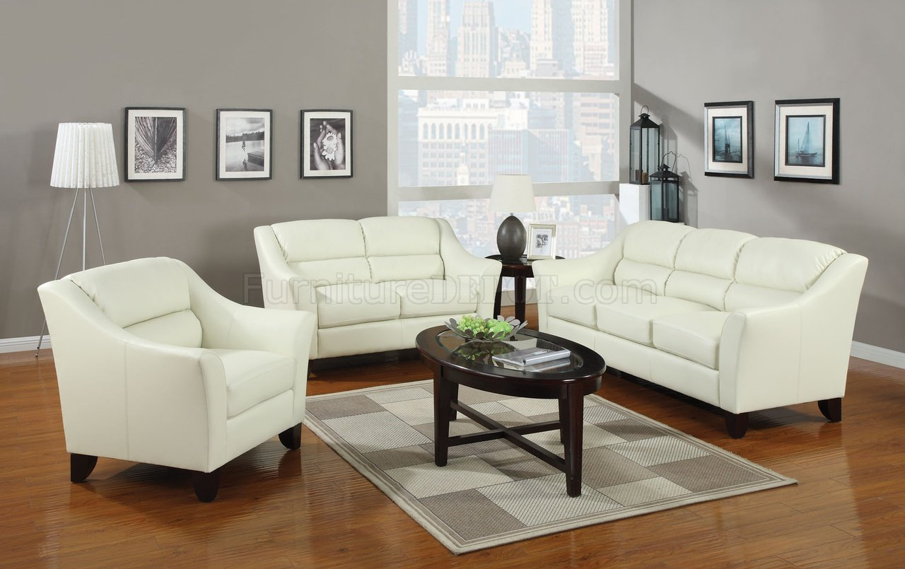 brooklyn bonded leather lounger chair and ottoman chaise lounge pool chairs 504131 sofa in ivory by coaster