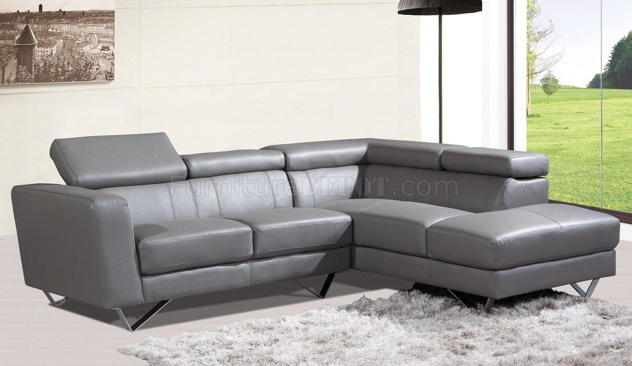 6201 amalia sectional sofa in grey