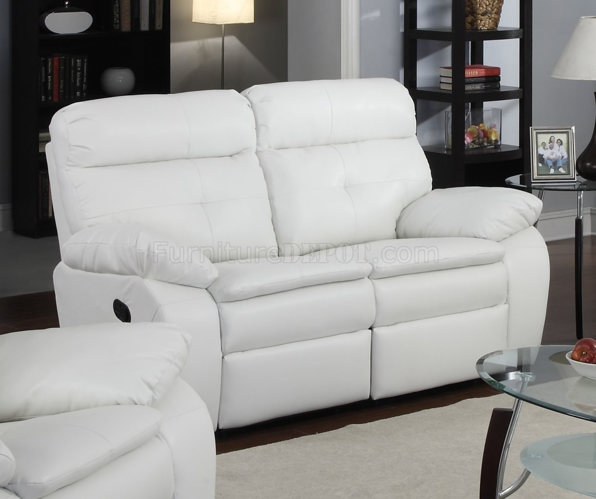 white reclining sofa and loveseat corner sectional small leather charming