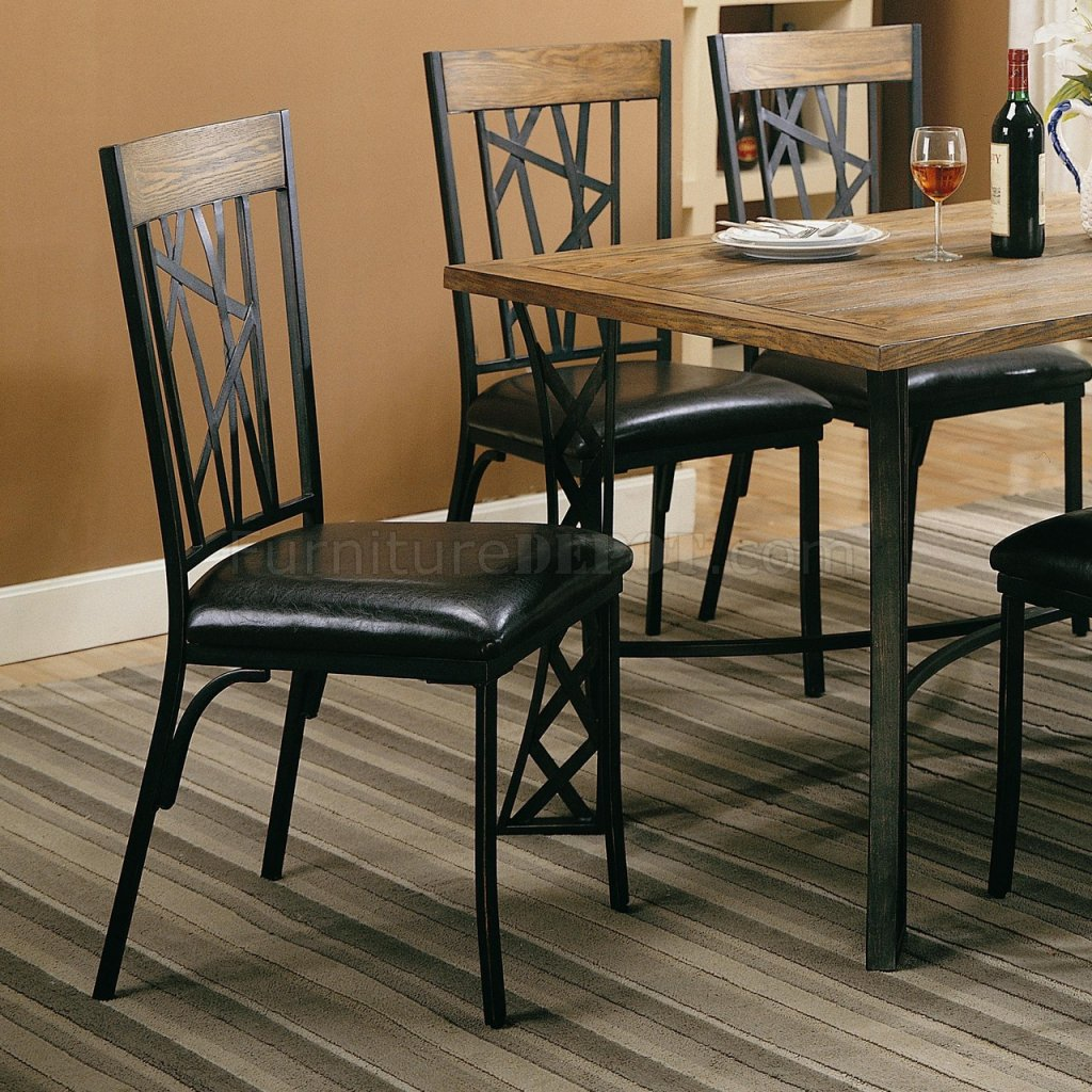 tiger print dining chairs chair design workshop black metal  pads and cushions